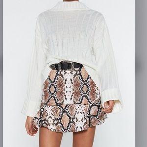 NASTY GAL Flip It Snake Skirt
